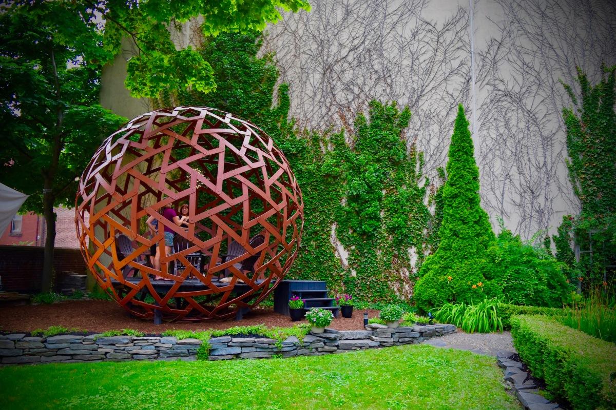 Having a ball in the garden