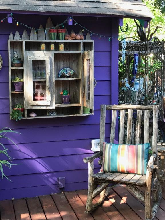Cozy crafty funiture in teh El Jardin Encatador