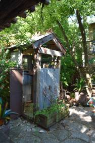 La Lucinda Cantina's outdoor shower.