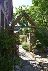 The entrance gate (from the garden side).