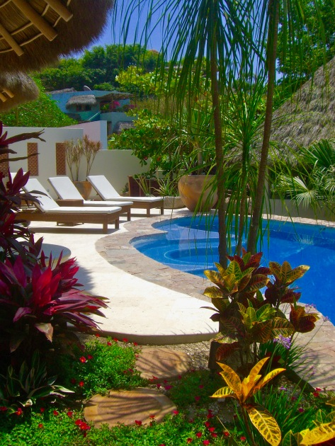 Poolside in Sayulits, Mexico.