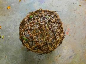 DIY vine sphere akebia vine light