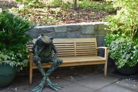 Someone to sit with in the Atlanta Botanical Garden.