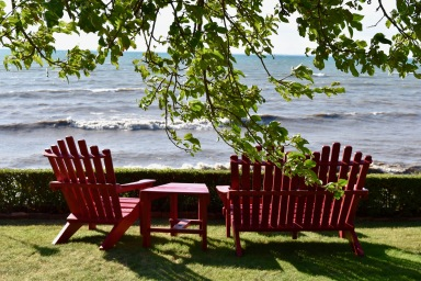 If you live on Lake Erie, the view defines the seating.