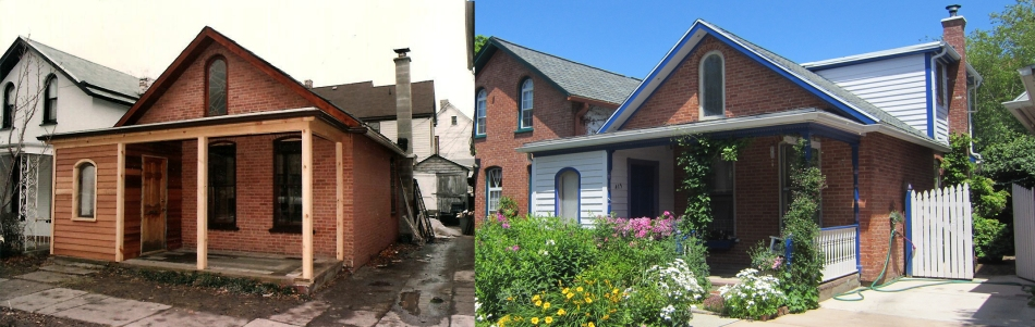 before and after garden buffalo ellie cottage district sumer street front