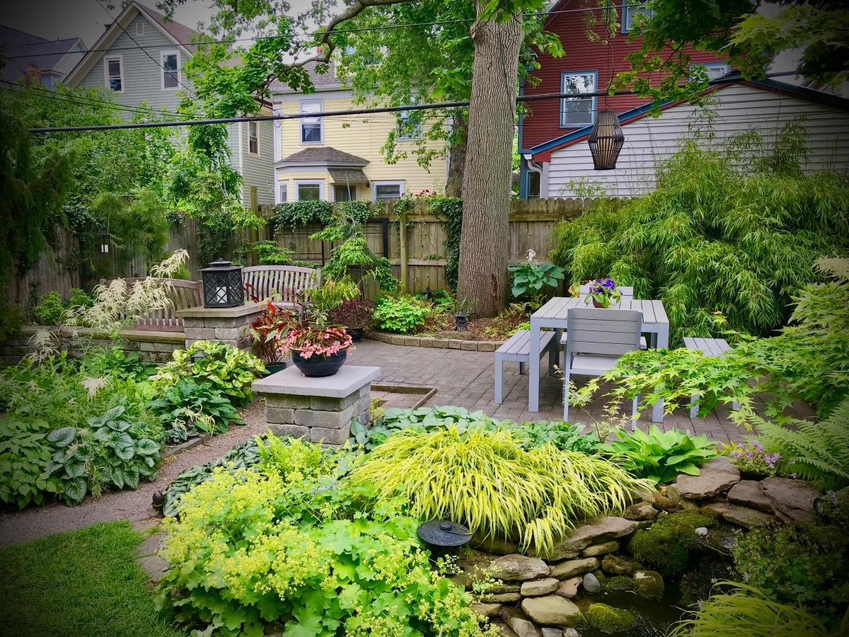 Garden Walk Buffalo Cottage District 5: Modern, Asian-flavored Garden Before & After