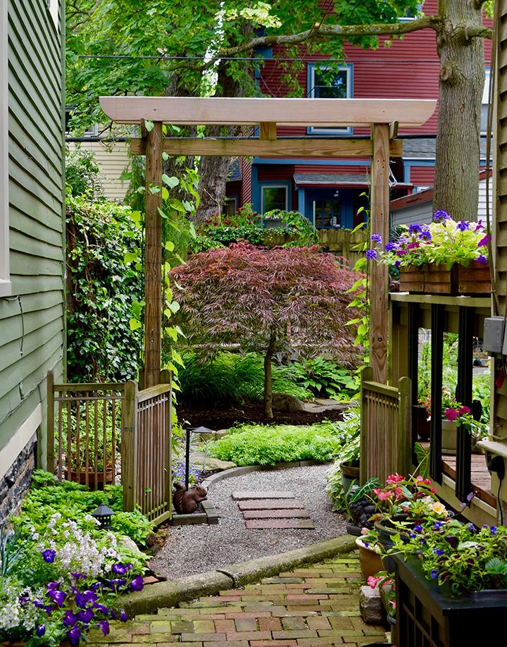 Buffalo garden before&after lancaster Avenue6 japanese gate garden entry