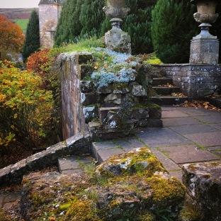 Scottish Csatle stairs at the Falklnd Palace.