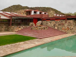 Wright made the steps at Taliesen West a design feature of the landscape.