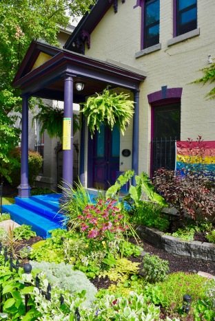 Paint! Paint like your life depends on it! Like these steps in Buffalo's Johnson Park neighborhood.