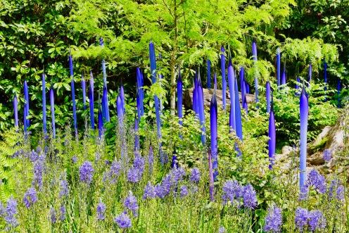 """Neodymium Reeds"" matching glass to plant inspirations."