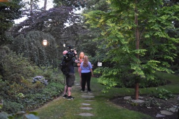 Pam Rose being interviewd by the Spectrum News team.