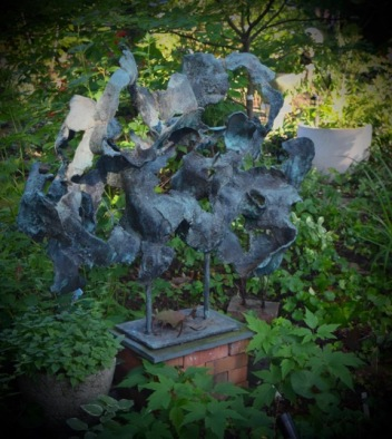 Organic sculpture in the garden.