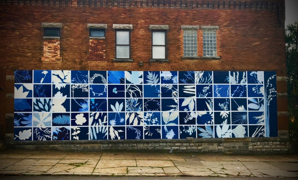 "244 Dewitt Street, Hillary Waters Fayle, ""Botanical Blueprint"", 2019, commissioned by the Albright-Knox Art Gallery's Public Art Initiative."